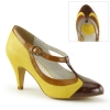 PEACH-03 Yellow Faux Leather